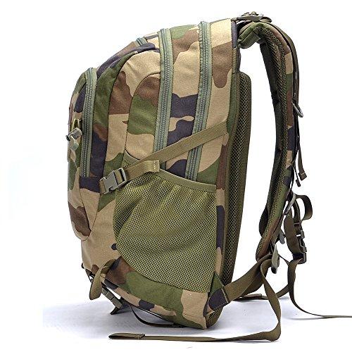 Imagen de yakeda® fans táctico  de gran capacidad paquete de senderismo al aire libre de las fuerzas especiales militares paquete de equipo táctico  nighthawk multifunción táctica   a88053 oscuro de camuflaje verde  alternativa