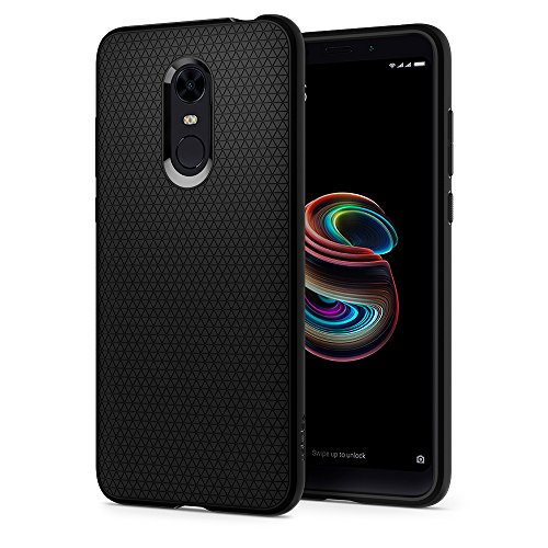 spigen® [Liquid Air Funda Xiaomi Redmi 5 Plus con Durable Flex y Easy Grip Design para Xiaomi Redmi 5 Plus (2018) - Negro