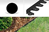 GardenPlast PalisGarden Rasenumrandung, Rasenkante, Randstein, Beeteinfassung Land 3 m, schwarz, 60x9x3.8 cm, 03-001