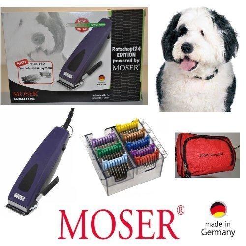 Rotschopf24 EDITION Moser Haartrimmer REX1233 Adjustable + 8 Metall-Aufsteckkämme. Präzisionsschneidsatz! Made in Germany!