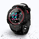 N NEWKOIN Reloj Inteligente Reloj Impermeable con Bluetooth Reloj Deportivo Reloj de Pulsera Fitness Rastreador de Fitness Compatible con Android/iOS para Hombres, Mujeres y niños