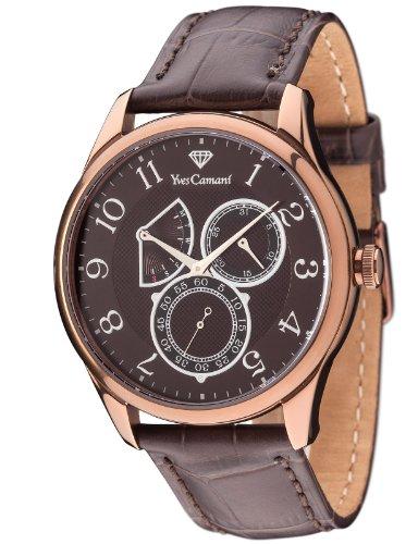 Yves Camani Roubion - Reloj para hombre, color marrón
