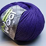 Lana Grossa Mc Wool Merino Mix 140 - 422 blu spettro 50g Wolle
