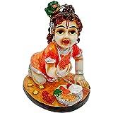 [Sponsored]ART N HUB Multicolour Hindu God Shri Krishan Statue Lord Krishna Idol Makhan Chor / Bal Gopal Handicraft Decorative Spiritual Puja Vastu Showpiece Figurine - Religious Pooja Gift Item & Murti For Mandir / Temple / Home Decor / Office