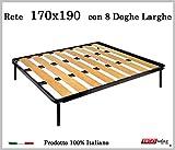 Rete a 8 doghe larghe in faggio. 100% Made in Italy - 170 cm x 190 cm