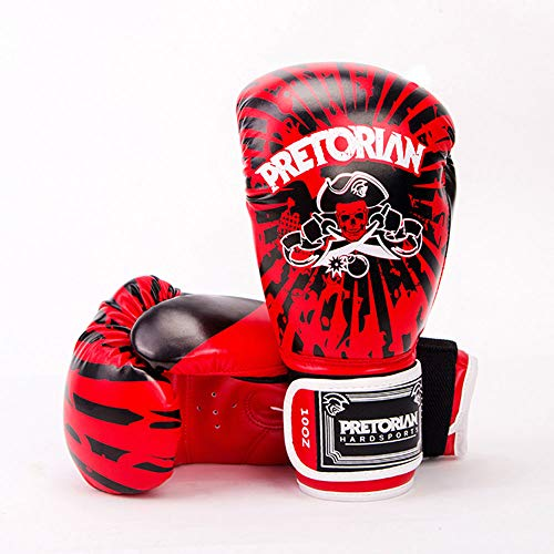 Boxing MMA Handschuhe Grappling Boxsack Training Kickboxing Kampf Sparring Gym Training Grant Boxhandschuhe,Red,12Oz