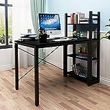 soges Scrivania del Computer PC Desk Scrivania con ripiano Workstation per Uso Ufficio Domestico Tavolo da Scrittura, H02