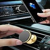 Love Shang Lv Support Téléphone Voiture Magnétique Ventilation Support Voiture en Aluminium pour iPhone X 8 7 6, Samsung et Les Autres Smartphones (Noir)