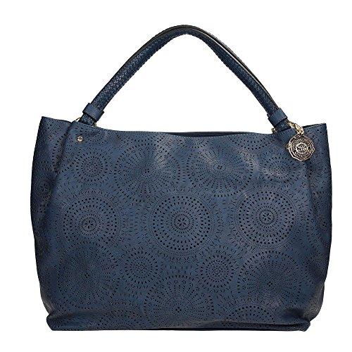 SCERVINO Street Large Double Handle Bag PAULINE Blue