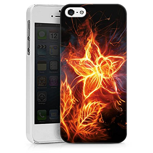 Apple iPhone X Silikon Hülle Case Schutzhülle Feuer Blume Pflanze Hard Case weiß