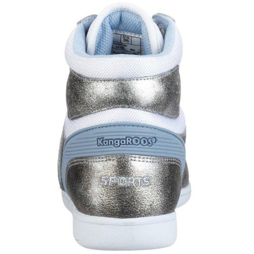 Swish-Hi-C KangaROOS 31158, donna SPORT scarpe, - Pallone da basket Bianco (bianco)