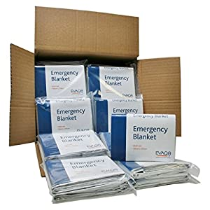 Pack of 100 Foil Blankets for Sports & Emergencies