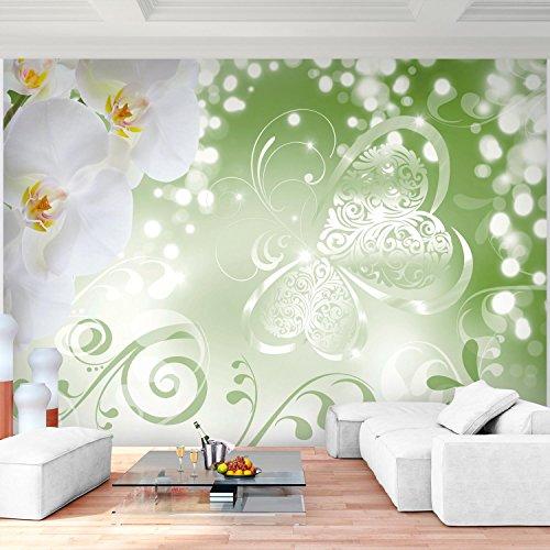 Fototapete Blumen Orchidee Grün 352 X 250 Cm Vlies Wand Tapete Wohnzimmer  Schlafzimmer Büro Flur Dekoration Wandbilder XXL Moderne Wanddeko Flower  100% MADE ...