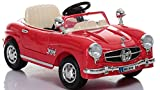 #6: GetBest Battery Operated Vintage Classic Ride on Car for Kids, Red, 2-Piece
