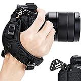 JJC - Correa de Mano para cámara Fujifilm Fuji X-T30 X-T20 X-T10 X-T3 X-T2 X-T1 GFX 50S X-PRO2 X-H1 X-E3 X-E2S X-E2 X-E1 X100F X100T X100S X100 X70 X30 (Doble Correa y Placa Tipo Suizo Arca)