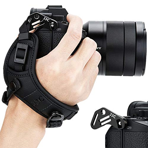 JJC Systemkamera Handschlaufe für Sony Fujifilm Canon Nikon Olympus Panasonic (Schwarz)
