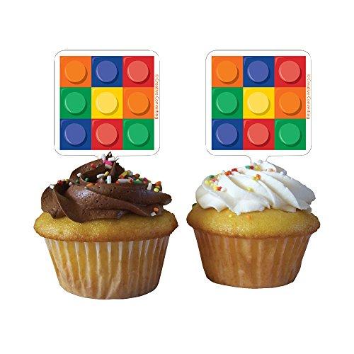 12Stück Cupcake Topper (Lego Cupcake Topper)