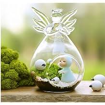 fendii ngel forma planta de flor de cristal para colgar jarrn decoracin de