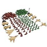 MagiDeal 210pcs Modèles Militaire Figure Soldiers Armée et Avion Jouet Cadeaux Enfant...