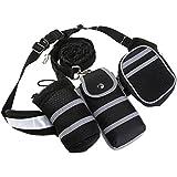 ULTNICE Hände frei Hundeleine Joggingleine Hunde Sicherheitsgeschirre Geschirre mit Verstellbar Taille Gürtel für Laufen Jogging und Walking, Ausdehnung auf 75 Zoll