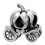Soulbead - Charm, carrozza a forma di zucca, in vero argento Sterling 925, per Halloween, regalo