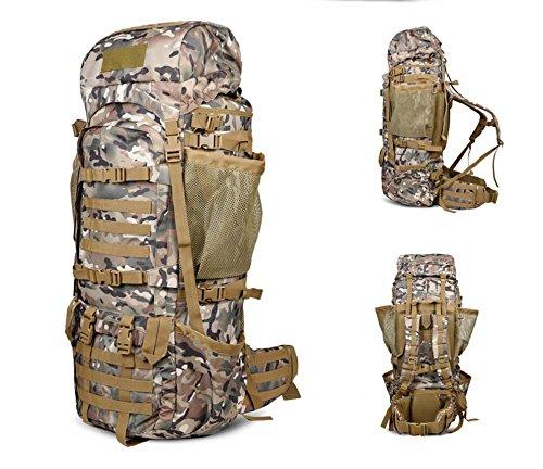 125L Rucksäcke Outdoor Hohe Kapazität Bergsteigen Reisetasche für Männer und Frauen Rucksack Militärische Tactical Schulterriemen CP