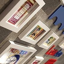 Foto parete / portafoto cornice / cornice combinazione di cornice in legno massello creativo decorativo pittura 5 pollici 10 pollici 7 pollici ( Color : White )