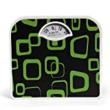 Belita BPS-M-1105 Square Display - Large Surface Personal Analog Weighing Scale upto 120 KG by EzLife - Green