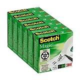 Scotch Magic - Cinta invisible en caja individual (6 cajas), 19 mm x 33 m