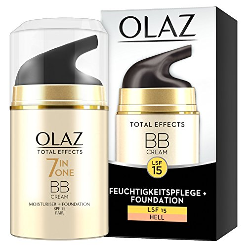 OLAZ Total Effects BB Cream Touch of Foundation, Hell, Pumpe