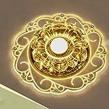 Modern Minimalistisch LED Deckenleuchte Atmosphäre Blumen-Form Deckenlampe Einfach Weiß Kristall Lampenschirm Elegant Aisle Korridor Balkon Halle Deckenbeleuchtung Ø20cm 3W Warmes Licht 3000K