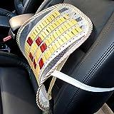 ClookYuan Supporto Lombare Posteriore Cuscino ventilato Supporto per seggiolino Auto per Ufficio Schienale per la Vita Accessori universali per Automobili