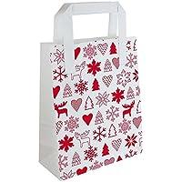 Colour-Bags Tragetaschen Papiertragetaschen (500 Stück), weiß Kraft 70 g/m², Flachhenkel, Format: 18 + 09 x 23 cm, Motiv Winterzeit - für DE ab EUR 29,00