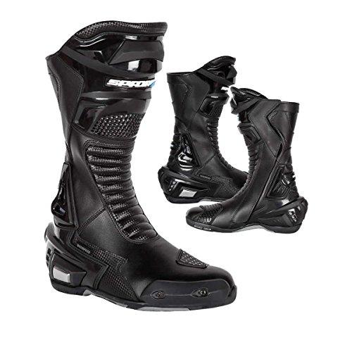 Spada X-Race Waterproof Motorradstiefel Lader Sports Racing Stiefel Wasserdicht Stiefel Schwarz - Black - EC 46