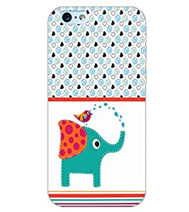 PrintDhaba PIGI CARTOON D-6200 Back Case Cover for APPLE IPHONE 6 (Multi-Coloured)