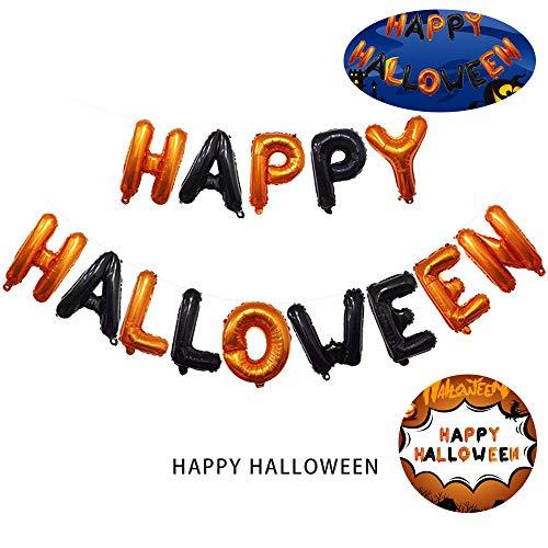 Cloud speeding Halloween Ballon-Set, Schwarz Orange Buchstabe Aluminiumfolie Film Happy Halloween Banner Ballon, Geeignet Für Party-Spielzeug Innen- Und Außendekoration Halloween Requisiten