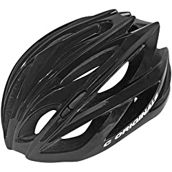 210 Gramos Ultra Ligero - C ORIGINALS C380 Casco Bicicleta - Negro Brillante