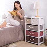 IG Hauptmöbel Nachttisch Massivholz Rattan Aufbewahrungsbox Schublade Schlafzimmer Schließfächer