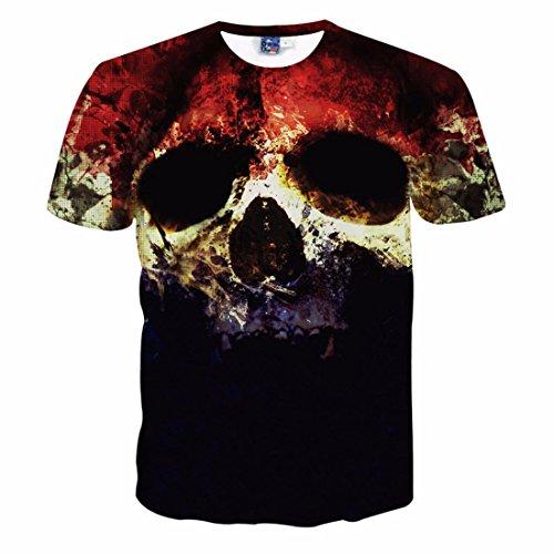 Men's 3D Halloween Dead And Skulls Printed Hip Hop Tee Shirt g1032