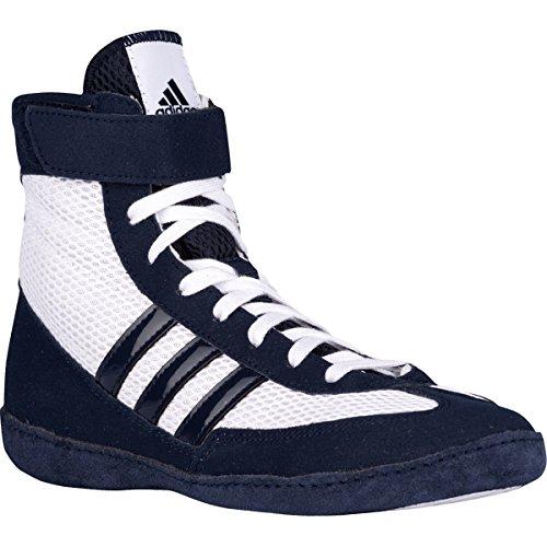 Adidas Kampf Geschwindigkeit 4 Youth Wrestling Schuhe Bahia Blau / lime Grö�e 1.5 White/navy/white