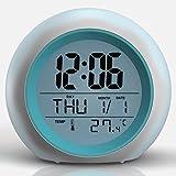 Pantalla digital Reloj Despertador, TKSTAR Despertadores Digitales Despertador Infantil Iluminado Modelo de Pantalla Digital Avanzada Niños y Jóvenes Adultos Reloj Familiar y de Viaje, Trabajo JU809N