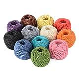 Advantez 12-Pack dell'Assia della tela da Spago String corda naturale intrecciata della tela da Cord diametro 2.0MM
