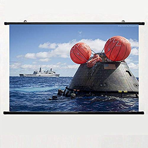 EBONI ELLIOTT USS Anchorage Rescue Mission NASA Orion Spaceship Mc Gary Wall Scroll Poster 24 X 16 Inch