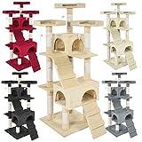 TecTake Tiragraffi per gatto gatti gioco gichi palestra - disponibile in diversi colori - (Beige | No. 400928)