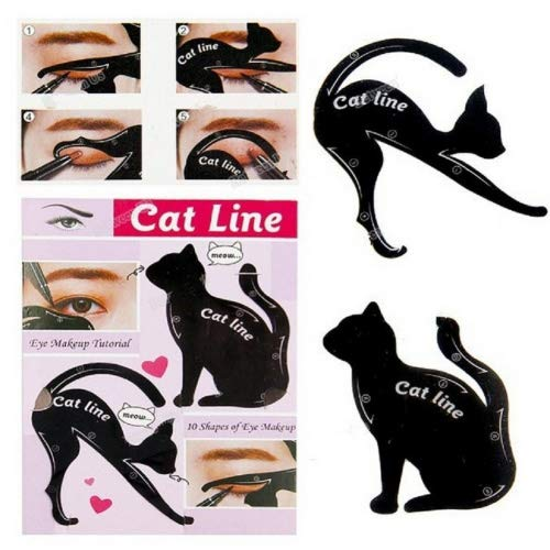 Rungao 2pcs hojas gato negro delineador ojos diseño