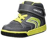 Geox Jungen JR Gregg B Hohe Sneaker, Grau (Grey/Lime C0666), 26 EU