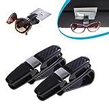 IGEMY 2Pcs Gläser Halter für Auto Sonnenbrille Brillen Mount (Silber)