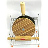 R B S Chakla Belan With Tawa Stand Stainless Steel Kitchen Rack (Silver)