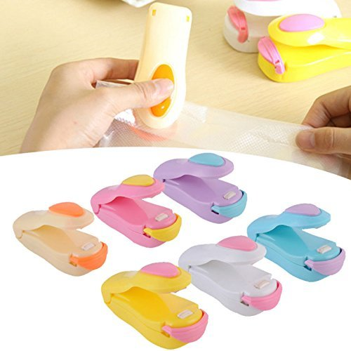 Generic PINKYELLOW: 6-colors tragbar Versiegelungsgerät Haushalt Mini Verschweißen Mähne Hitze Schweißgerät für Beutel Verschließmaschine für Food Saver Aufbewahrung PVC-Taschen Paket