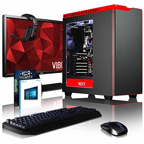 VIBOX Armageddon GM760-610 Gaming PC Computer mit Spiel Bundle, Windows 10 OS, 27 Zoll HD Monitor (4,6GHz Intel i7 6-Core, MSI Nvidia GeForce GTX 1060 Grafikkarte, 32Go DDR4 RAM, 120GB SSD, 3TB HDD) (Nvidia Gtx 610)